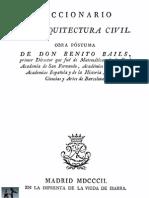 1802 Benito Bails Diccionario de Arquitectura Civil