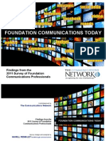 Findings From the 2011 Survey of Foundation Communications Professionals