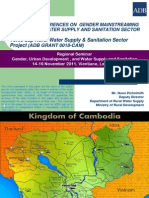 Cambodia Experiences on Gender Mainstreaming in the Rural Water Supply and Sanitation Sector