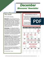 Blossoms' Dec. Newsletter