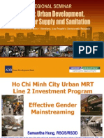 Ho Chi Minh City Urban MRT Line 2 Investment Program - Effective Gender Mainstreaming