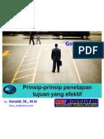 Prinsip-Prinsip Penetapan Tujuan Yang Efektif