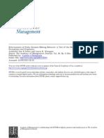 Determinants of Risky DM Behaviors