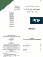 A Heidegger Dictionary