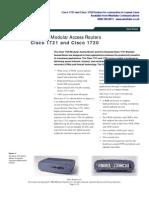 Cisco 1721 Datasheet