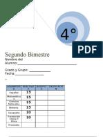 Examen Lainitas 4to Grado - Bimestre 2 (2011-2012)