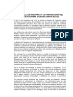LA BATALLA DE TARAPACÁ Y LA PARTICIPACIÓN DEL HÉROE NACIONAL MARIANO SANTOS MATEO