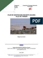 Rapport Plan Gestion Dechet Tanger