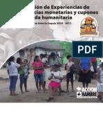 Capitalización de experiencias de transferencias monetarias y cupones para la ayuda humanitaria