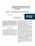 Viability of Permanent Single Phase Opening of Lines in Extra High Voltage un s. Paulo