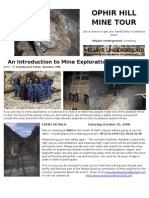 Ophir Hill Mine Tour and Introduction to Mine Exploration in Utah
