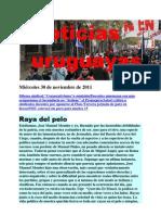 Noticias uruguayas miércoles 30 de noviembre de 2011