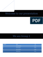 Welcome to Our Presentation 4