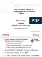 Discover to OBIEE Migration Strategy