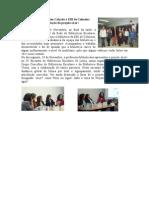 Visita da Drª Teresa Calçada à EBI de Colmeias