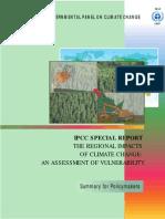 Os Impactos Regionais da Mudança do Clima