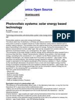 Photo Voltaic Systems_ Solar Energy Based Technology