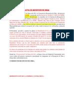 Acta de Recepcion de Obra - Cqm