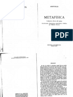 Aristoteles Metafisica Libro I 1994