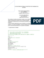 Modelado de Un Sistema de Pendulo Invertido Por Variables de Estado