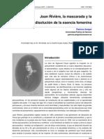 Joan Riviere Mascarada Sobre