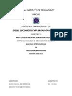 Ratlam Diesel Shed Training Report