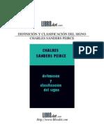 definición y clasificación del signo (charles sanders peirce)