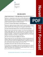 Economic Forecast Nov 2011