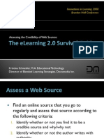 The eLearning 2.0 Survival Guide – Assessing the Credibility of Web Sources