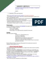 Aborto e Infecciones Puerperales