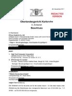 11-11-28 OLG KA IPCom HTC Kostenfestsetzungsbeschluss