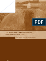 The Sustainable Management of Groundwater in Canada