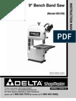 Delta BS100 Manual