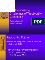 Greg Morrisett- The Engineering Challenges of Trustworthy Computing
