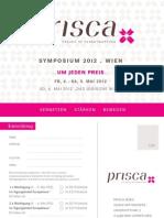 Prisca Symposium 2012 Anmeldekarte