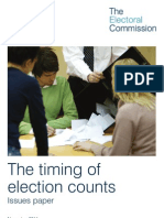 Timing of Election Counts