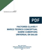Julien Dupuy - Factores Claves y Marco Teorico Conceptual sobre Cobertura Universal en Salud