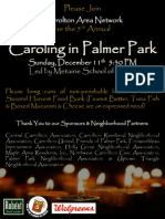 CAN Caroling in Palmer Park 2011