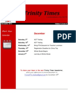 Trinity Newsletter Dec2011