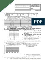 Examen Estadística Descriptiva para Primero de Bachillereato Sociales