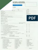 PDA Dental Chart