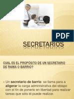 Presentación secretarios