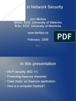 Jem Berkes- Topics in Network Security