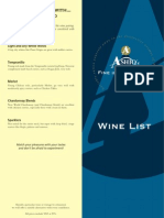 Ashiqs Wine List