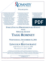Young Professionals Event for Mitt Romney