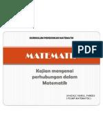 MTE 3102 (KURIKULUM PENDIDIKAN MATEMATIK) -Perhubungan Dalam Matematik.nurul