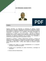Hoja de Vida Luis Fernando Abanis Popo