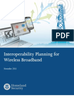 2011-11_DHS_Interoperability Planning for Wireless Broadband_Guide