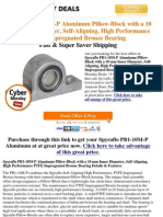 !!! Cyber Monday Best Deals Spyraflo PB1-10M-P Aluminum Pillow-Block With a 10 Mm Inner Diameter, Aligning, High Performanc