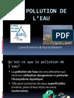 La Pollution De L'eau